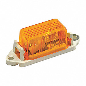 Small Clearance Light,Amber,Rectangle
