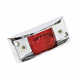 Chrome Armored Light,Red,Rectangle