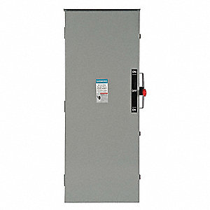 Safety Switch, 1 NEMA Enclosure Type, 60 Amps AC, 125 HP @ 240VAC HP