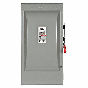 Safety Switch, 1 NEMA Enclosure Type, 200 Amps AC, 150 HP @ 600VAC HP