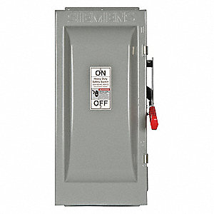 Safety Switch, 3R NEMA Enclosure Type, 100 Amps AC, 75 HP @ 600VAC HP