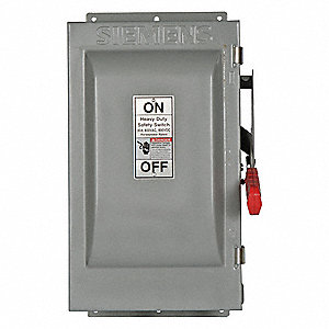 Safety Switch,600VAC,3PST,60 Amps AC