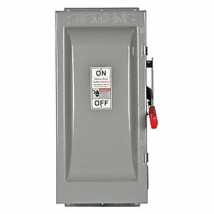Safety Switch, 3R NEMA Enclosure Type, 100 Amps AC, 100 HP @ 600VAC HP