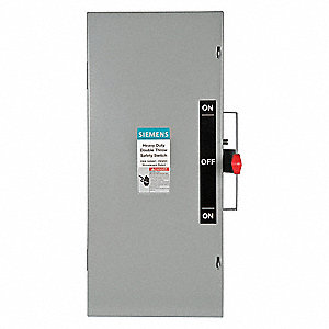 Safety Switch, 1 NEMA Enclosure Type, 100 Amps AC, 40 HP @ 240VAC HP