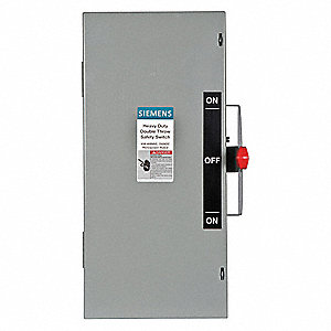 Safety Switch, 1 NEMA Enclosure Type, 60 Amps AC, 60 HP @ 600VAC HP