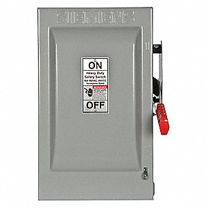 Safety Switch,600VAC,2PST,60 Amps AC