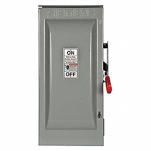Safety Switch, 3R NEMA Enclosure Type, 60 Amps AC, 50 HP @ 600VAC HP