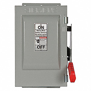Safety Switch,600VAC,2PST,30 Amps AC