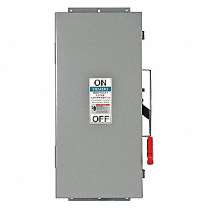 Safety Switch, 3R, 4X, 12 NEMA Enclosure Type, 60 Amps AC, 60 HP @ 600VAC HP