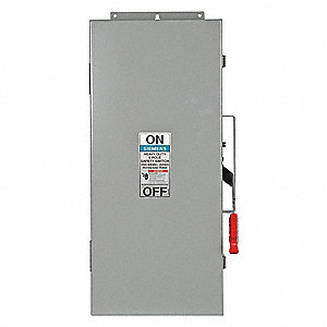 Safety Switch, 3R, 4X, 12 NEMA Enclosure Type, 100 Amps AC, 100 HP @ 600VAC HP
