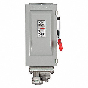 Safety Switch, 1 NEMA Enclosure Type, 30 Amps AC, 20 HP @ 600VAC HP