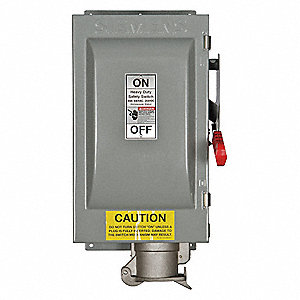 Safety Switch, 3R NEMA Enclosure Type, 60 Amps AC, 60 HP @ 600VAC HP