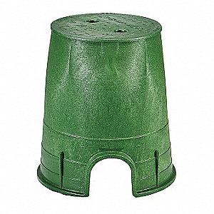 Valve Box,Round,9in.Hx8-3/8in.W,6-1/2in.