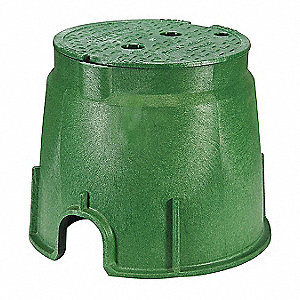 Valve Box,Round,10-1/2in.Hx13in.W
