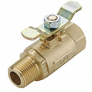 Ball Valve,1/2 in,Inline,Brass