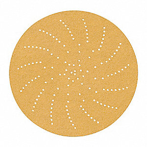 "5"" Coated Hook-and-Loop Sanding Disc, 180 Abrasive Grit, Fine Grade, Aluminum Oxide"