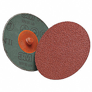"2"" Coated Quick Change Disc, TR Roll-On/Off Type 3, 60, Medium, Ceramic, 1 EA"