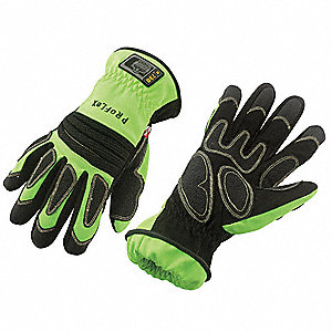 Firefighters Gloves,Lime,XL,PR