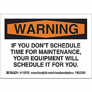 if you don t schedule time for maintenance your equipment will