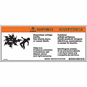 Warning Labels,4-1/2inHx10-3/4inW,Tape