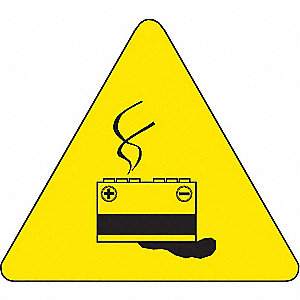 Warning Labels,2inHx2inW,Vinyl,PK10