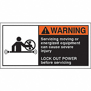 Warning Label,2-1/2inHx5inW,HP Poly.,PK5