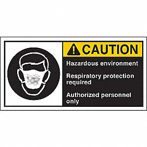 Warning Label, 2-1/2inHx5inW, HP Poly., PK5