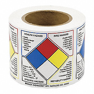 "Right-to-Know Label,4""H,4""W,PK500"