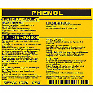 Chemical Label,3-3/4inHx4-1/2inW,PK25