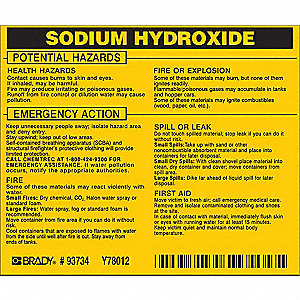Chemical Label, 3-3/4inHx4-1/2inW, PK25