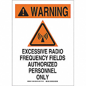 "Authorized Personnel and Restricted Access, Warning, Fiberglass, 14"" x 10"", With Mounting Holes"