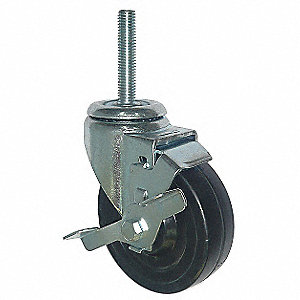 "4"" Light-Duty Swivel Stem Caster, 170 lb. Load Rating"