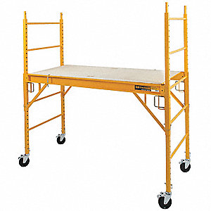 "Scaffold Tower, Steel, Adjustable Platform Height, 6 ft. 3"" Overall Height, 1000 lb. Load Capacity"