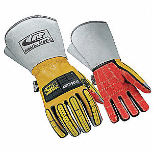 Anti-Vibration Gloves,Full,2XL,PR