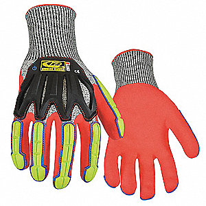 Cut Resistant Gloves,XL,Black/Hi-Vis,PR