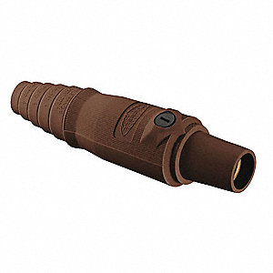 3R, 4X, 12 Taper Nose Connector, Female, Brown
