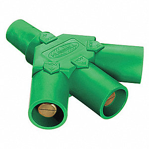 Triple Connector,600VAC/250VDC,Grn,Taper
