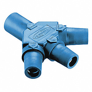 Triple Connector,Blu,300/400AC/DC,Taper