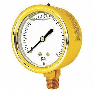 "2-1/2"" General Purpose Pressure Gauge, 0 to 2000 psi"