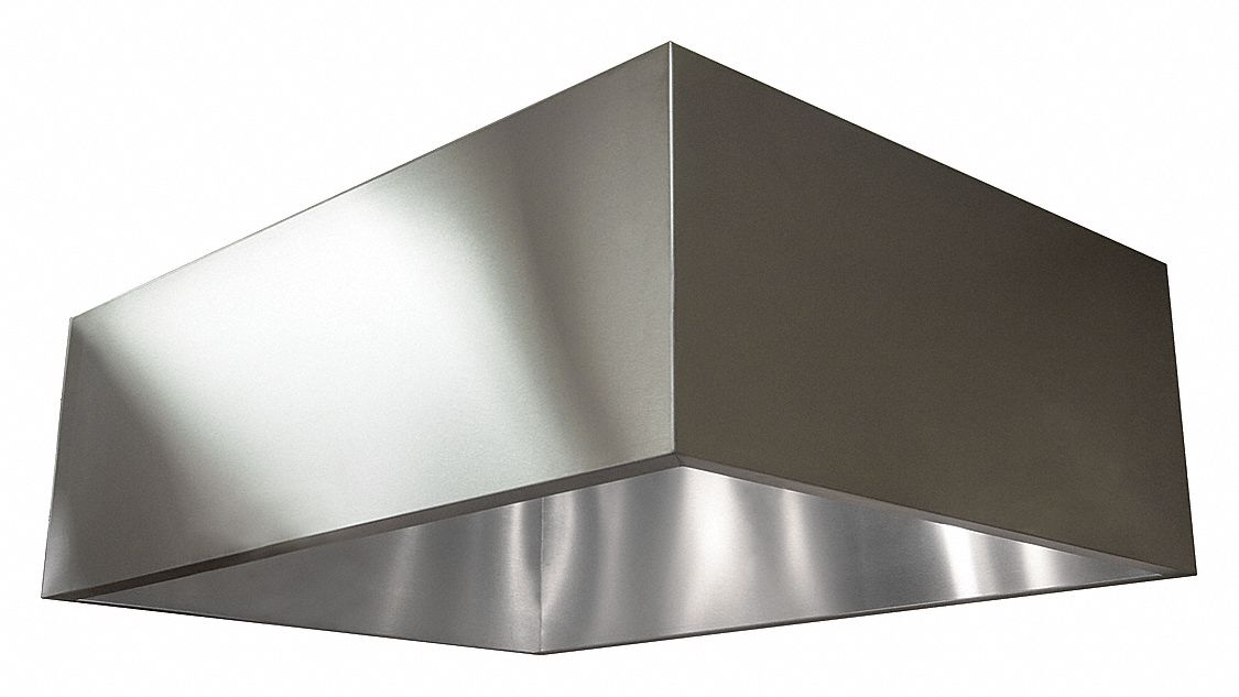 Dayton Commercial Kitchen Exhaust Hood 430 Stainless Steel Number Of Light Fixtures 0 Length 60 In 20ud11 20ud11 Grainger