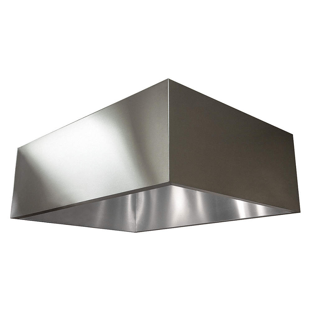 DAYTON Commercial Kitchen Exhaust Hood, 430 Stainless Steel, Number ...