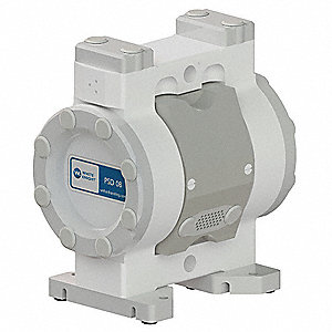 PTFE PTFE/EPDM Single Double Diaphragm Pump, 16.6 gpm, 100 psi
