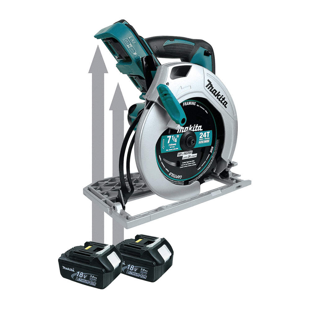 Makita 7 14 Cordless Circular Saw 360 Voltage 4800 No Load Rpm