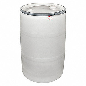 Transport Drum,Open Head,55 gal.,White