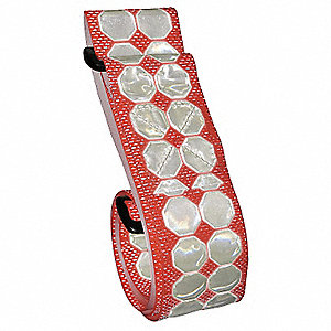 "55"" Synthetic Polymer Reflective Belt, Red, Delrin Buckle Material"