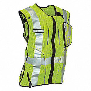 Construction Safety Vest, Lime, S/M