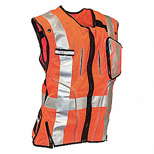 Construction Safety Vest, Orange, L/XL
