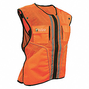 Construction Safety Vest,Orange,S/M