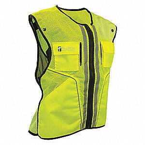 Construction Safety Vest, Lime, L/XL