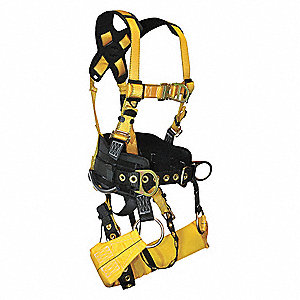 XL Tower Climbing Tower Climb Full Body Harness 6D, 5000 lb. Tensile Strength, 425 lb. Weight Capaci
